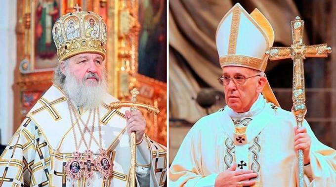 Patriarca-Kirill-Papa-Francisco