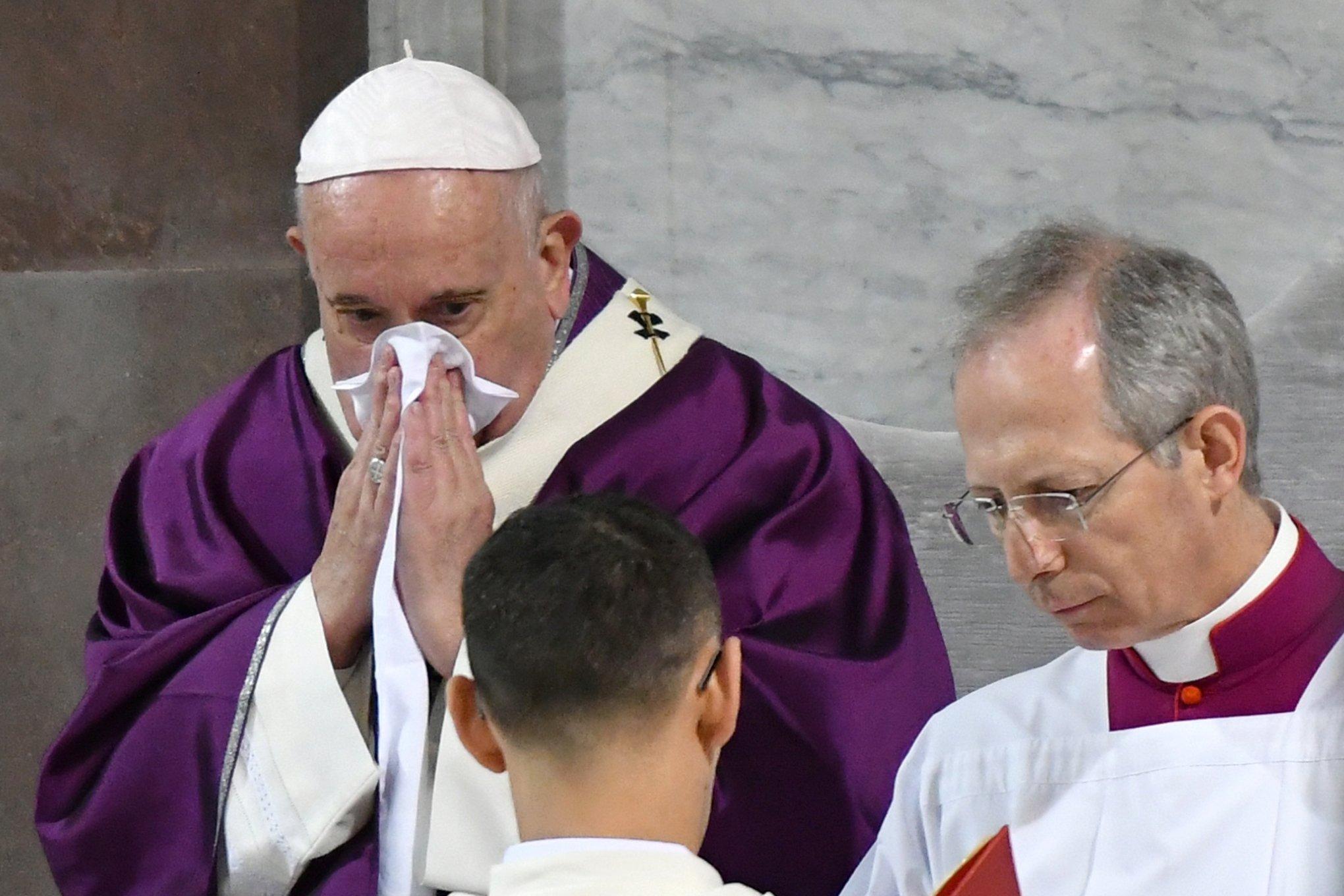 Papa Francisco testa negativo para o coronavírus