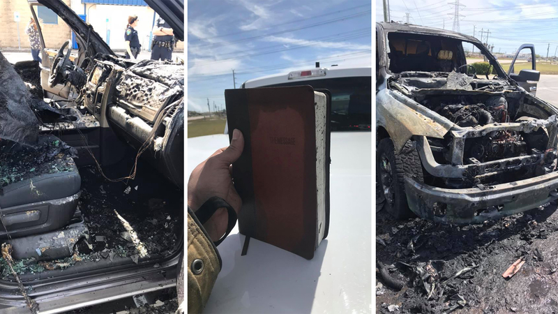 Após carro pegar fogo, Bíblia é encontrada intacta e surpreende bombeiros nos EUA