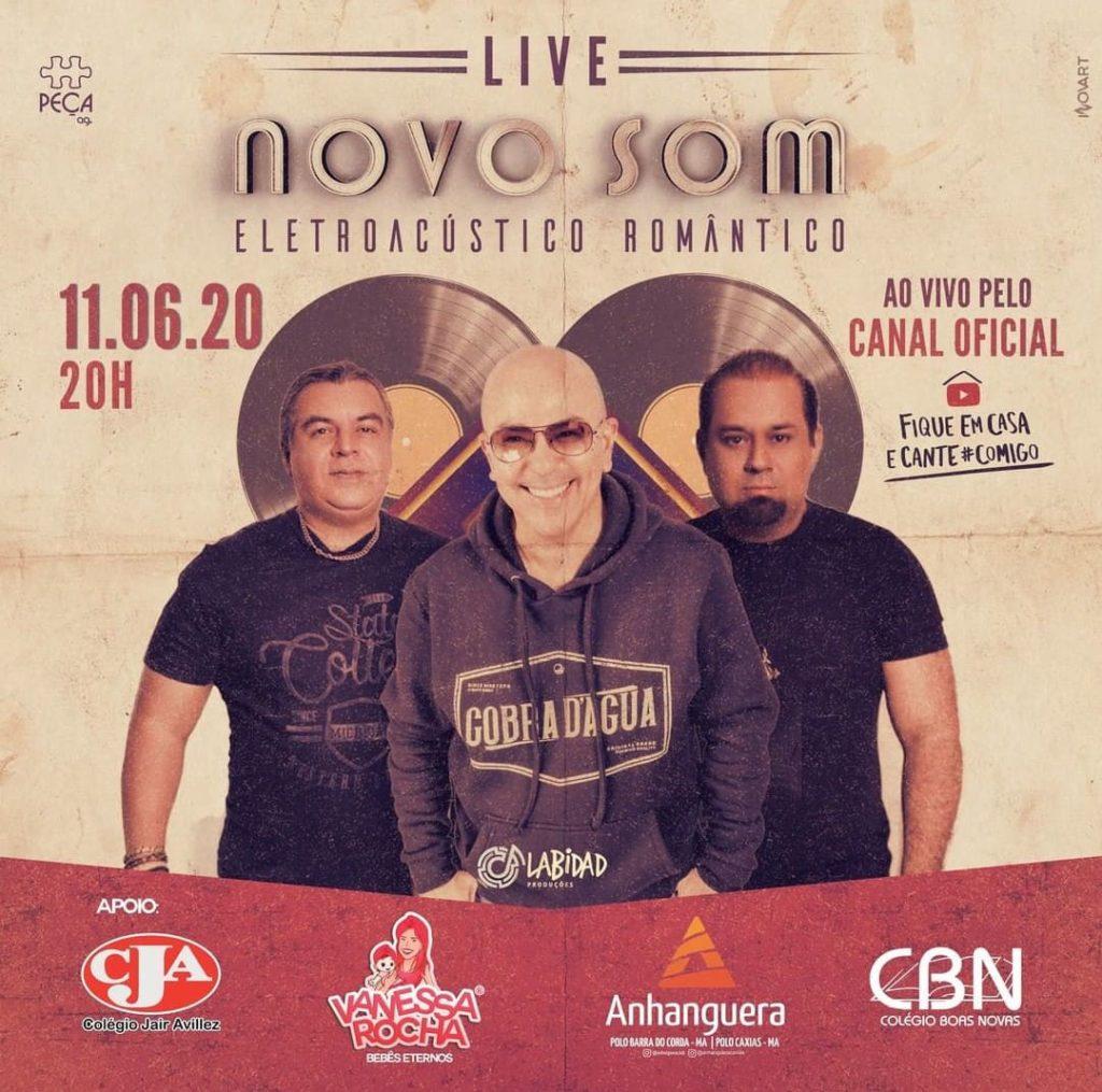 Novo Som transmite live ao vivo em seu canal no YouTube para todo o Brasil