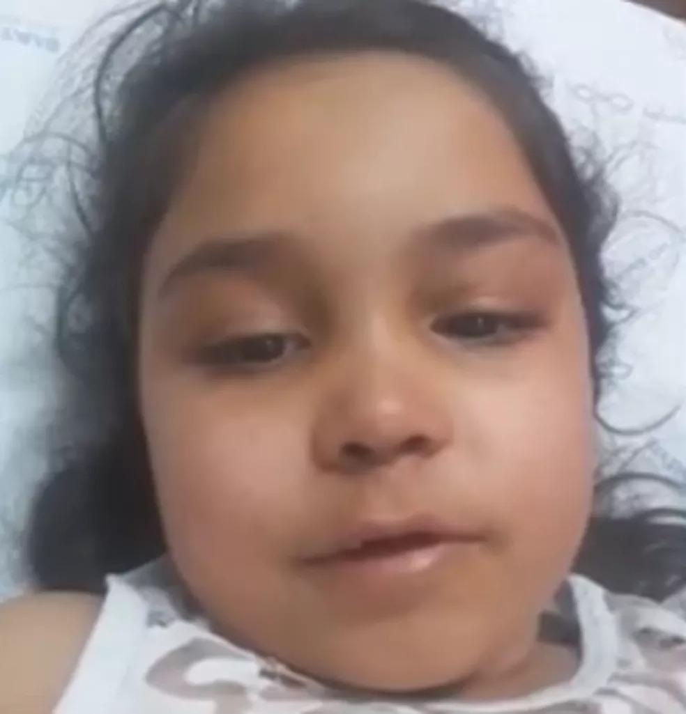Menina, de 7 anos, precisou ser internada